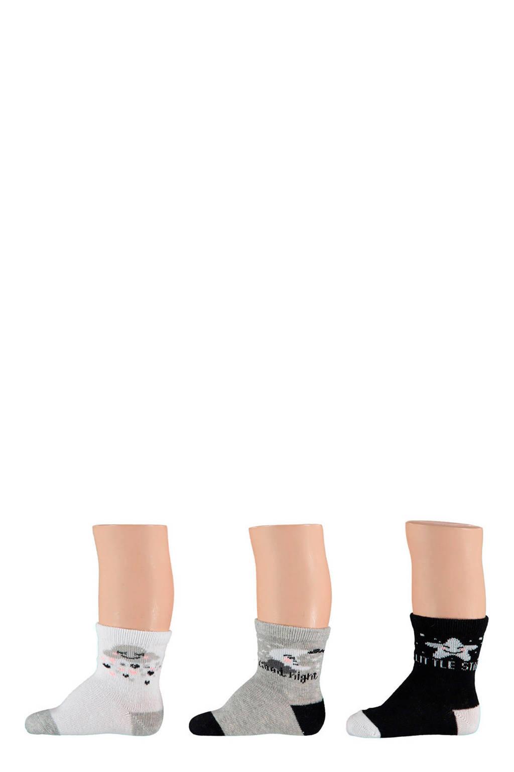 Apollo Baby sokken 3-pak, MULTI BLACK