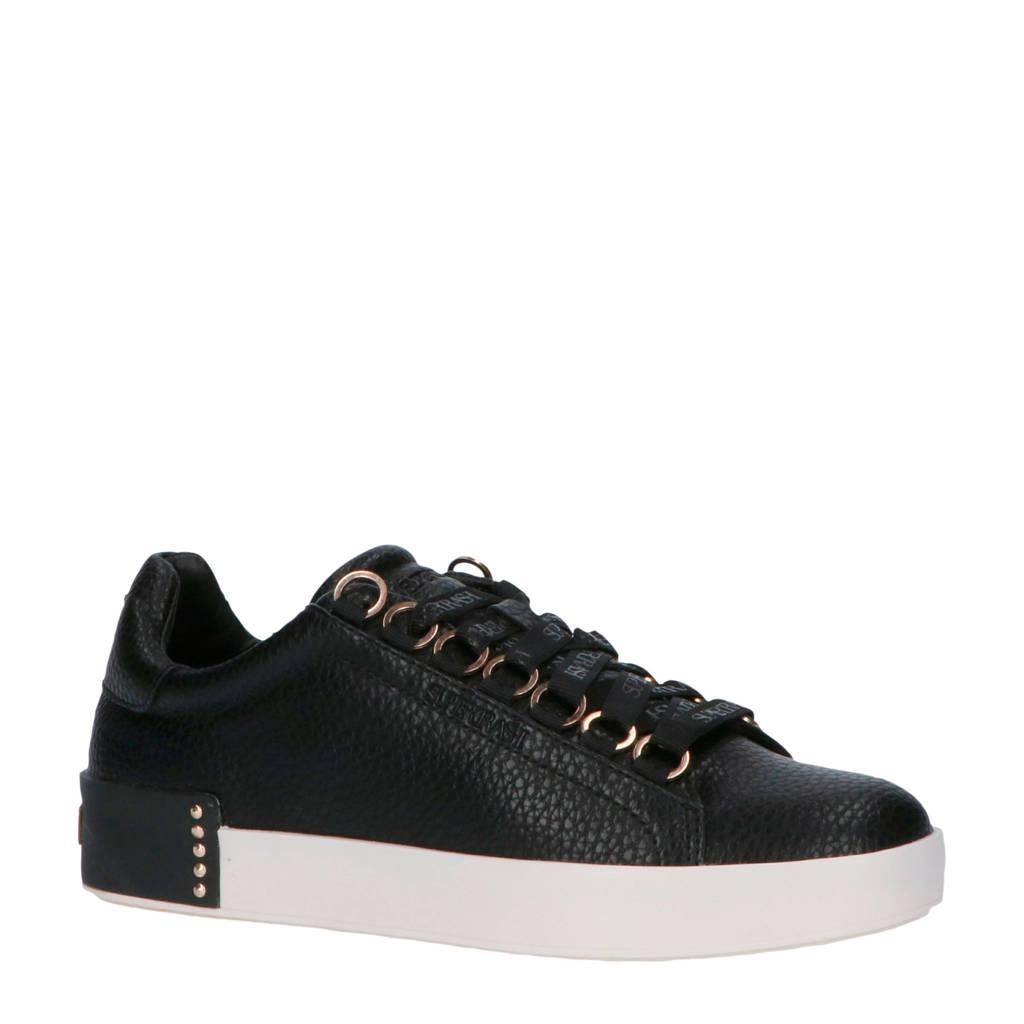 Supertrash Lina Low  sneakers zwart, Zwart