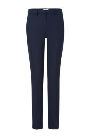 straight fit stretch pantalon donkerblauw