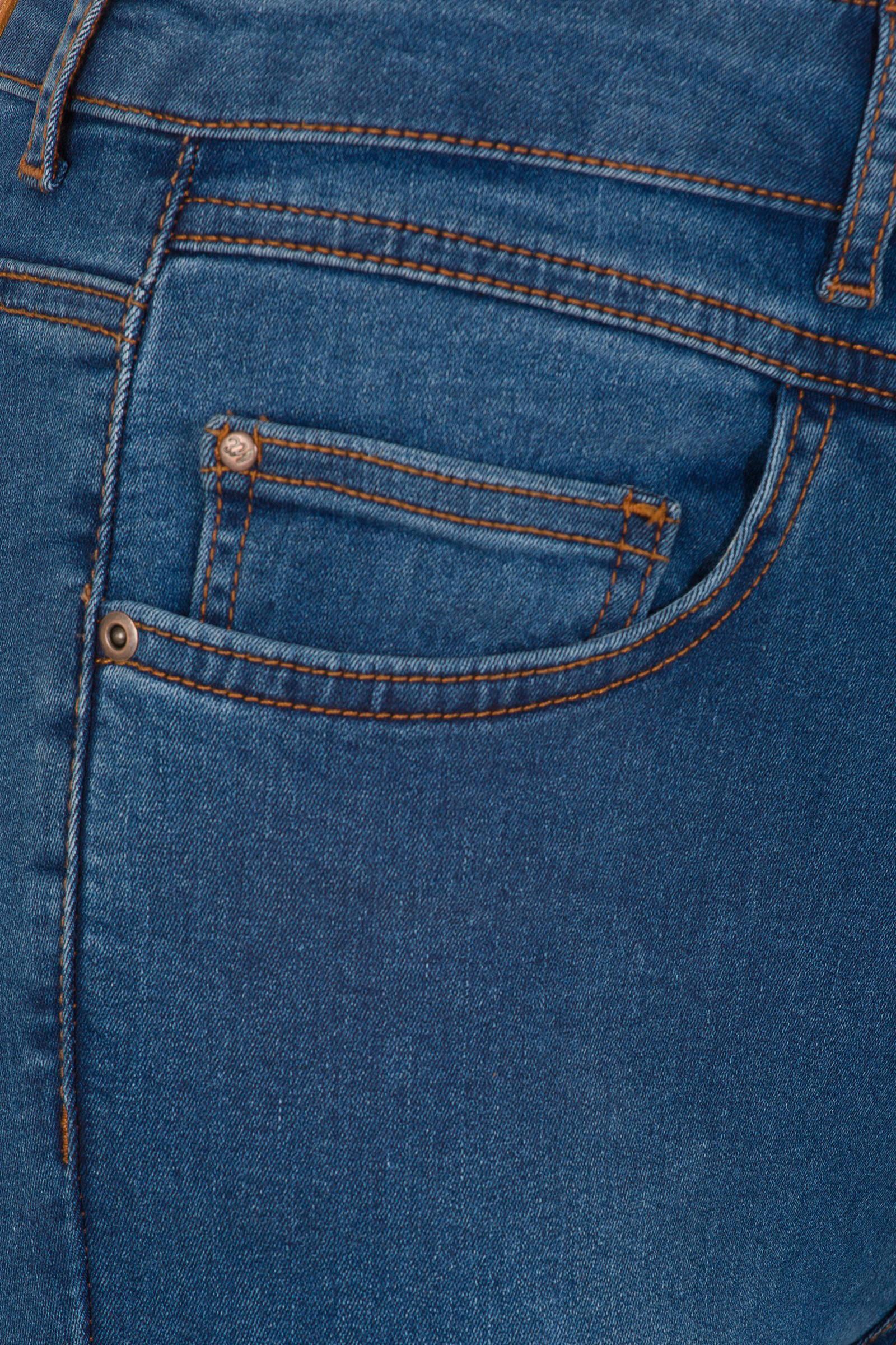 Miss Etam Regulier high waist skinny jeans Julie Go Green 32 inch blauw