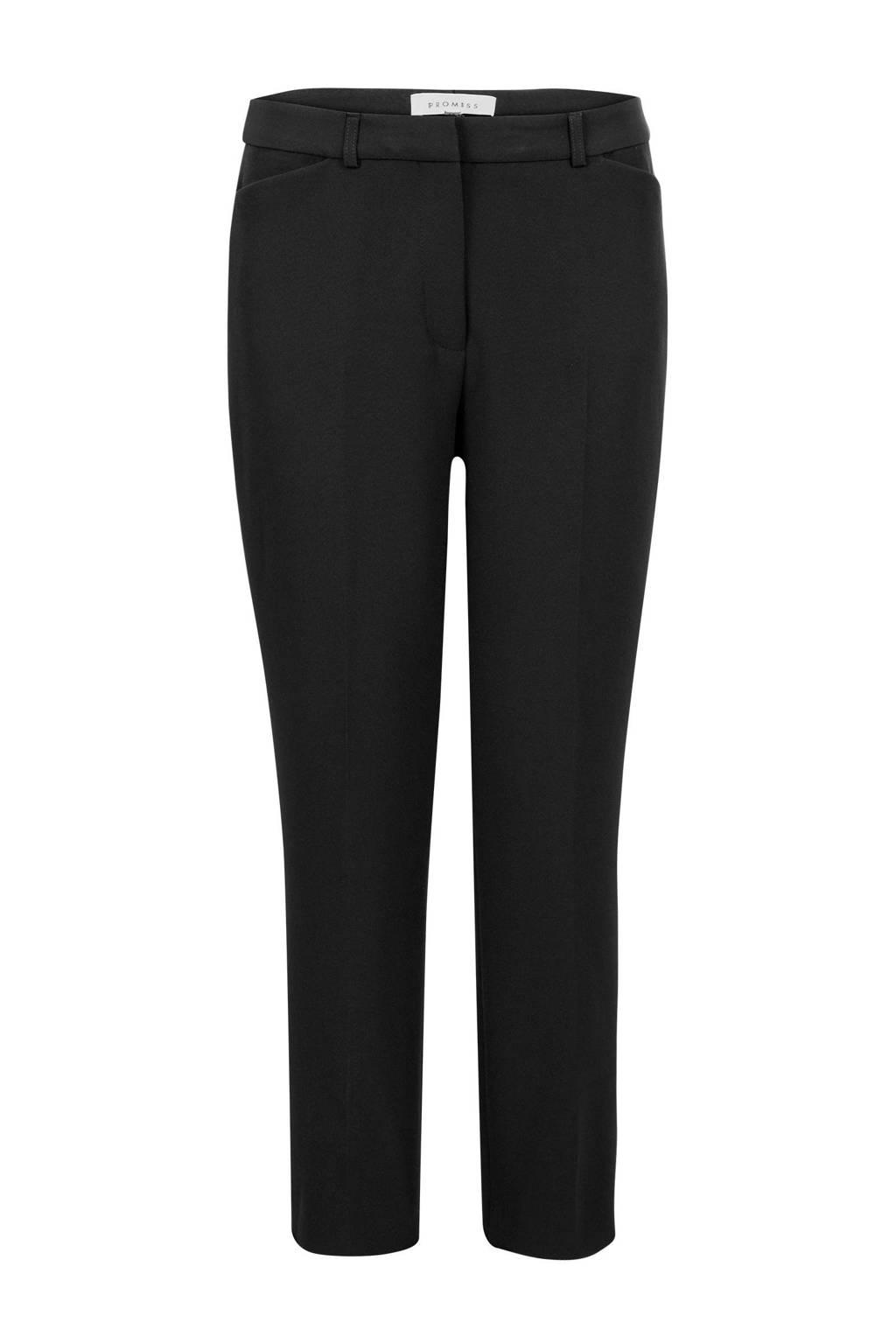 PROMISS straight fit pantalon zwart, Zwart