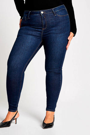 Plus Molly mid rise skinny jeans donkerblauw