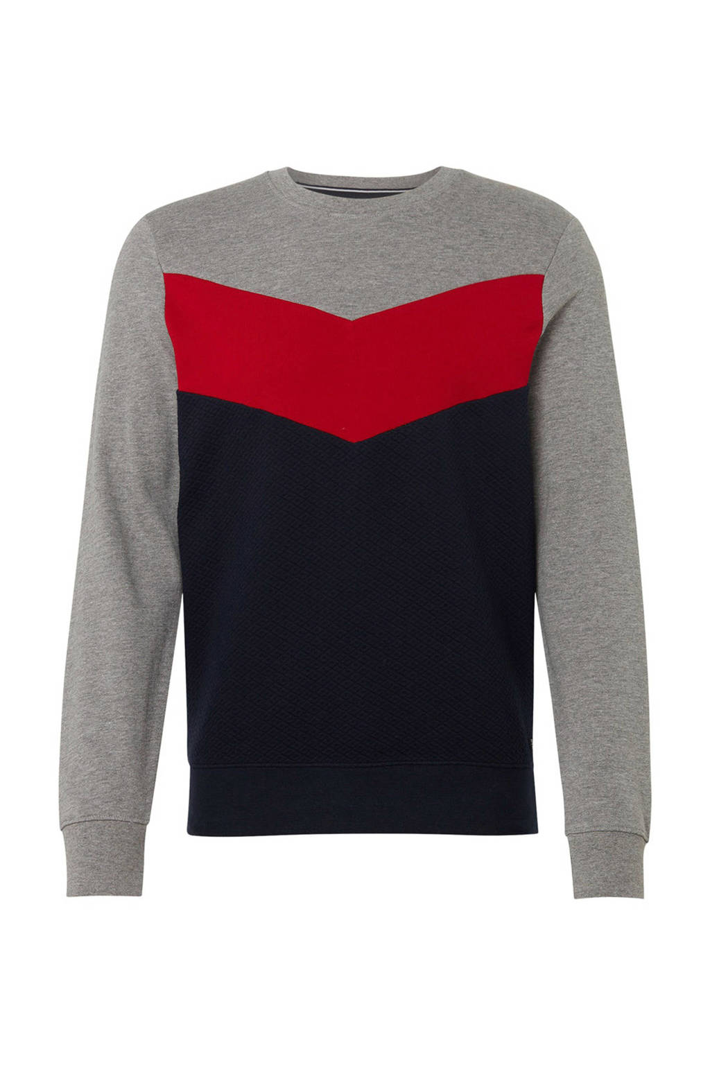 Tom Tailor sweater grijs/marine, Grijs/marine