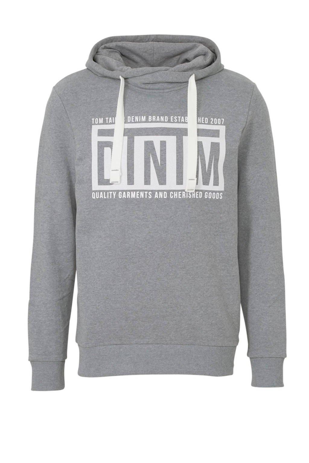 Tom Tailor gemêleerde hoodie grijs, Grijs
