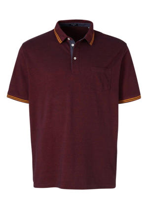 gemêleerde regular fit polo donkerrood