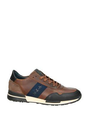 leren sneakers bruin