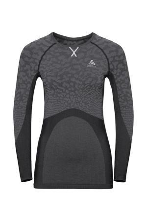 thermoshirt zwart/grijs