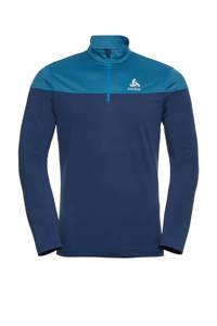 Odlo   hardloopshirt blauw/donkerblauw, Blauw/donkerblauw