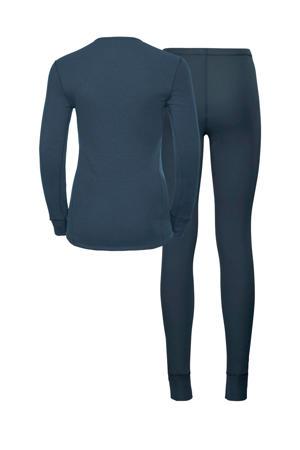 thermoshirt en broek donkerblauw