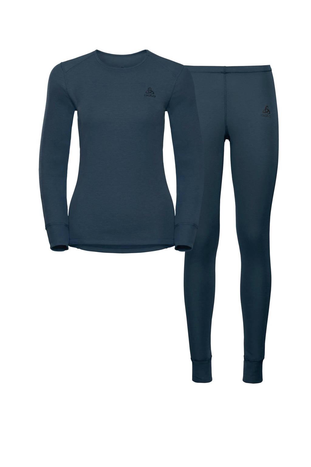 Odlo thermoshirt en broek donkerblauw, Donkerblauw