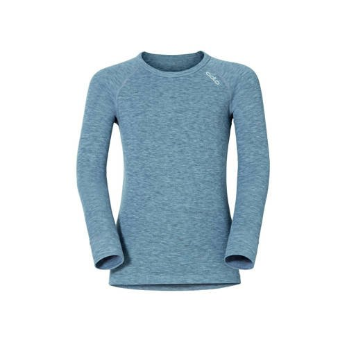 Odlo Shirt LS Crew Neck Warm Kids Grey Melange (128)
