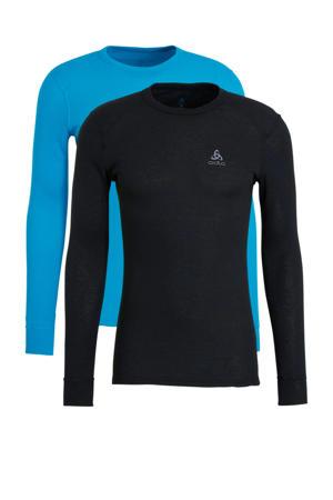 thermo shirt (set van 2) zwart/blauw