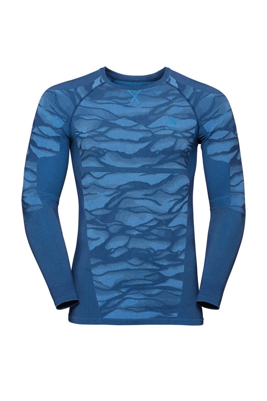 Odlo thermoshirt blauw, Blauw