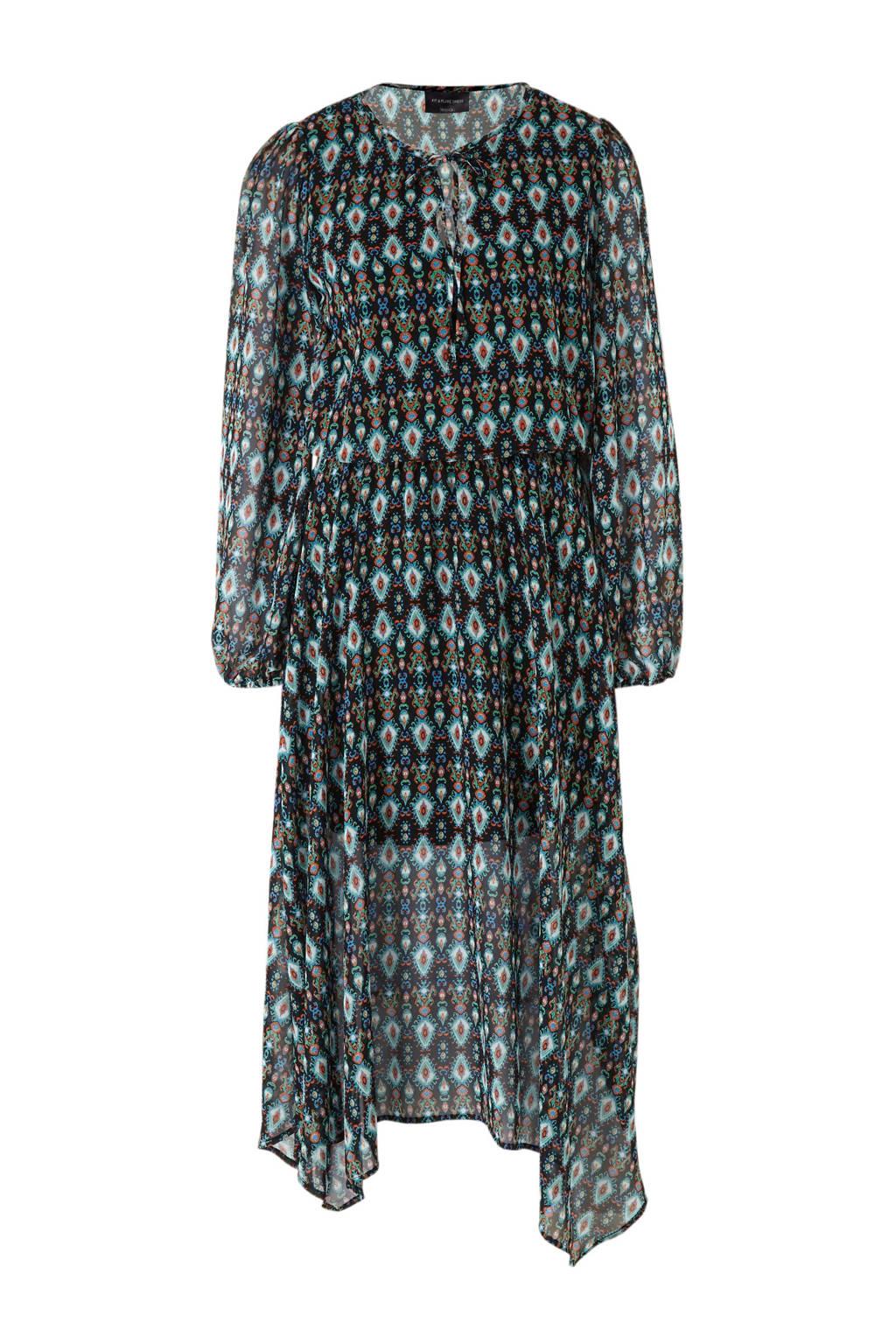C&A Yessica jurk met all over print blauw, Blauw