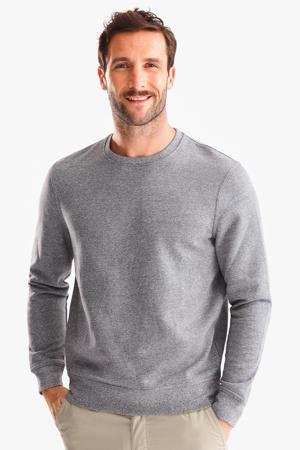 geméleerd sweater met fleece lichtgrijs
