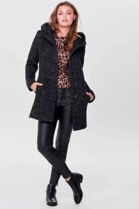 ONLY coat met textuur ONLSEDONA zwart, Zwart