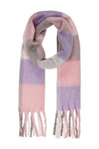 ONLY geblokte sjaal paars, Paars