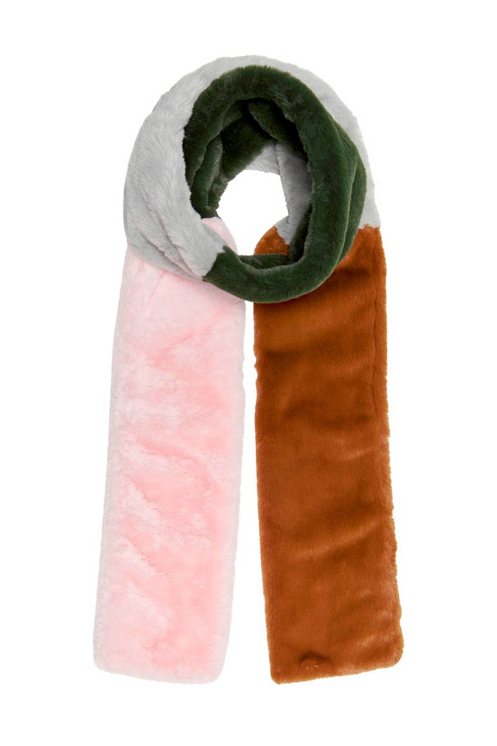 ONLY sjaal roze, Bruin