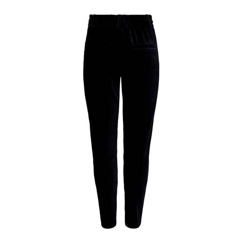 ONLY corduroy tapered fit broek zwart