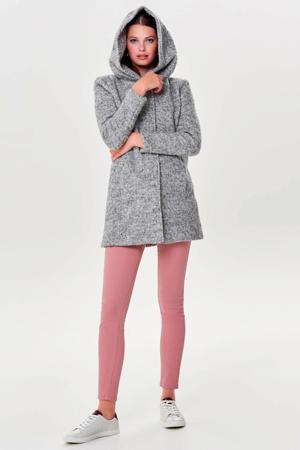coat met textuur grijs