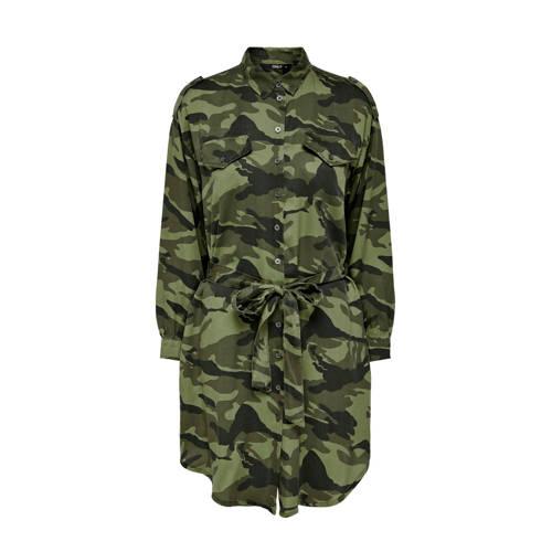 ONLY blousejurk met camouflageprint en ceintuur gr