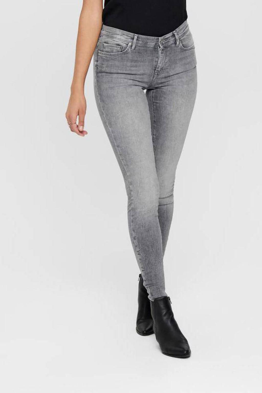 ONLY skinny jeans ONLSHAPE grey denim, Grijs