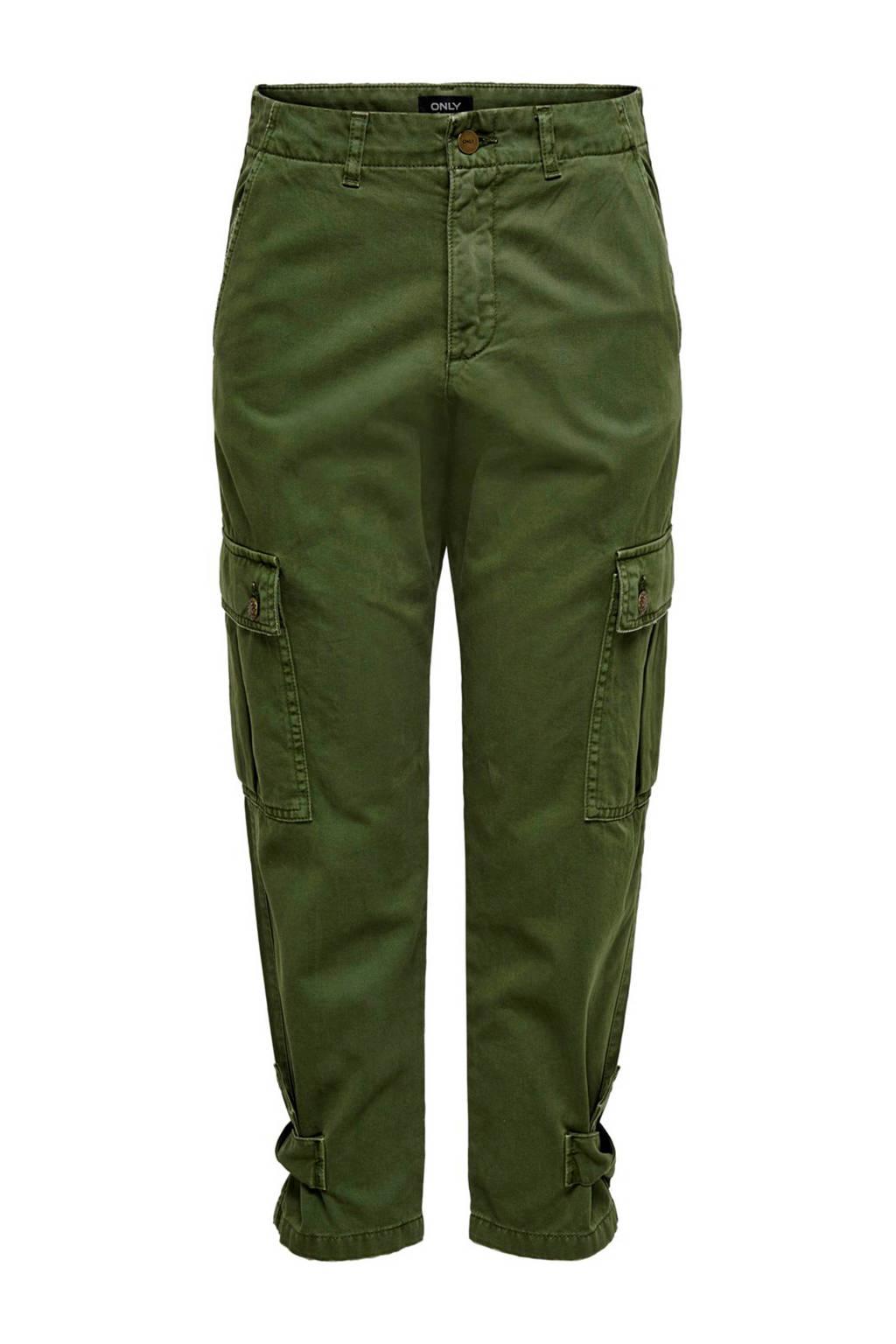 ONLY regular fit cargobroek groen, Groen