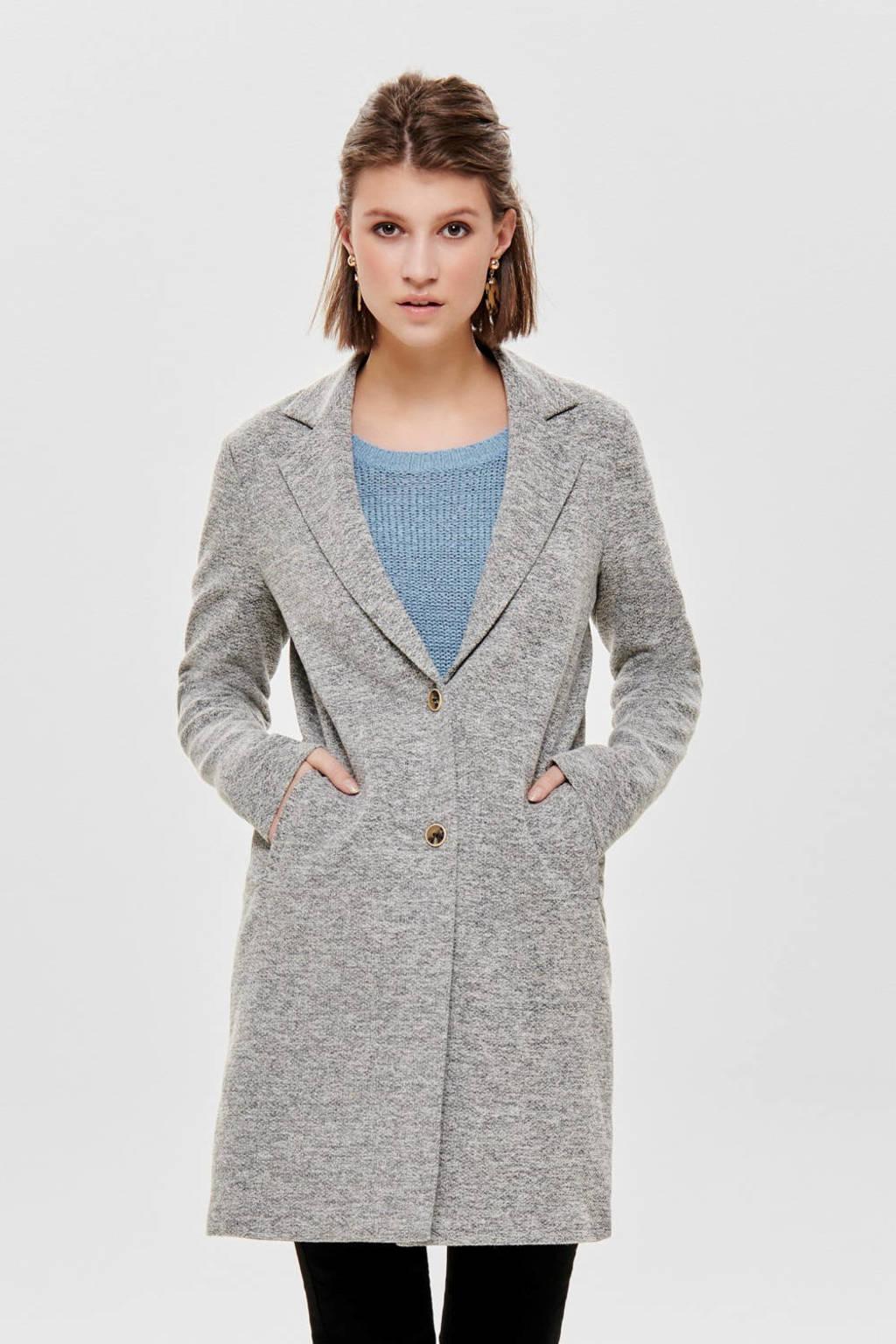 ONLY gemêleerde coat grijs, Grijs