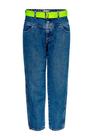 high waist straight fit jeans blauw