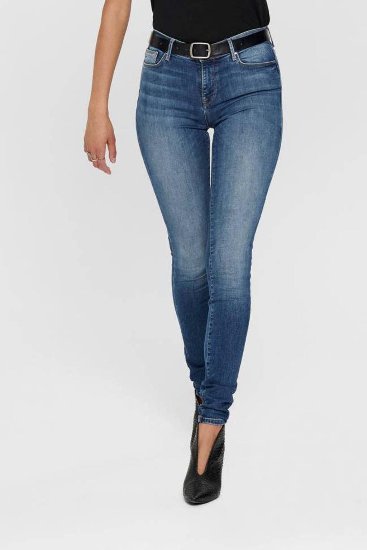 ONLY skinny jeans ONLSHAPE medium blue denim, Blauw