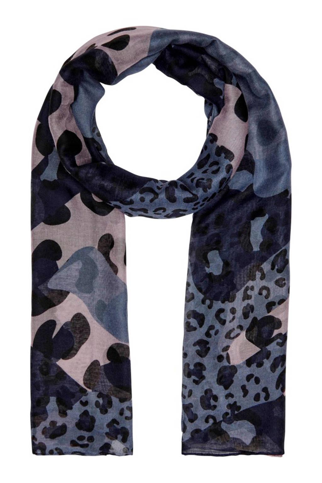 ONLY sjaal blauw, Donkerblauw