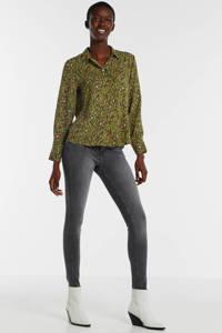 ONLY blouse met all over print groen, Groen