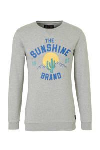 Shiwi sweater met printopdruk grijs, Grijs
