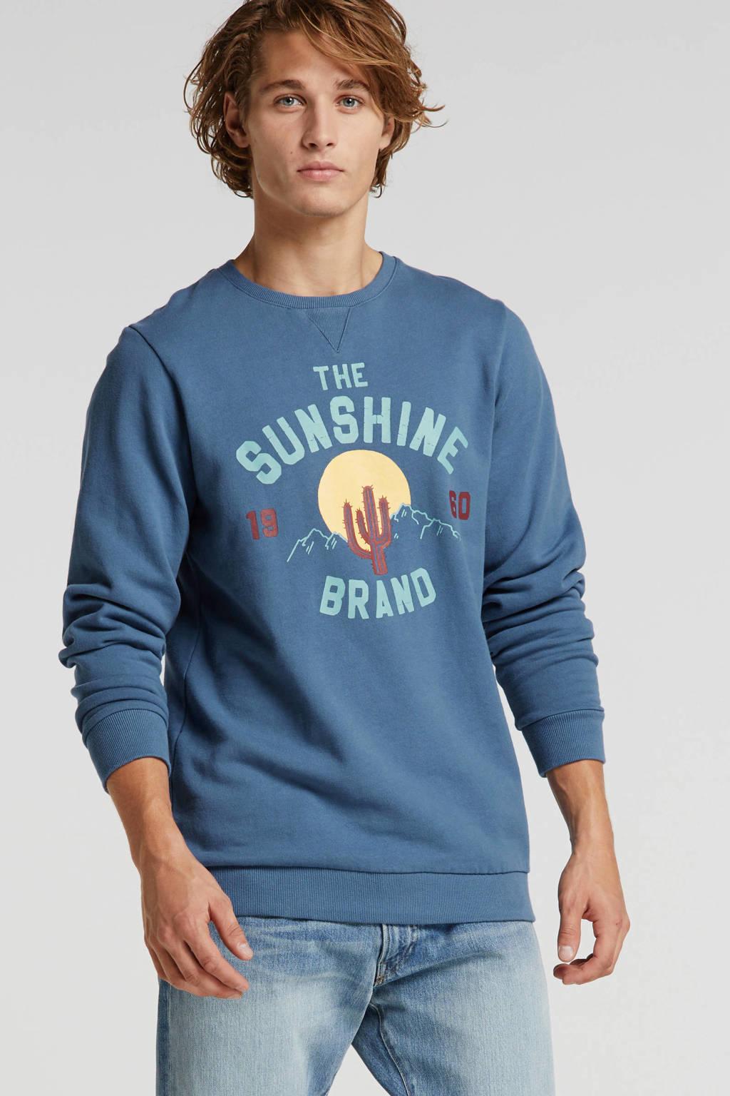 Shiwi sweater met printopdruk blauw, Blauw