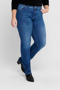 ONLY CARMAKOMA slim fit jeans CARVEVA medium blue denim, Blauw