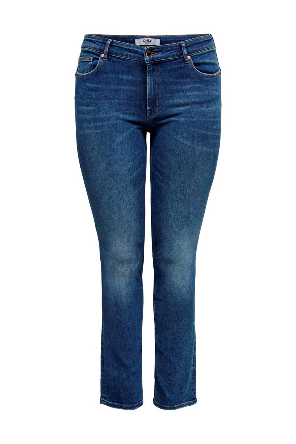 ONLY CARMAKOMA slim fit jeans blauw, Blauw