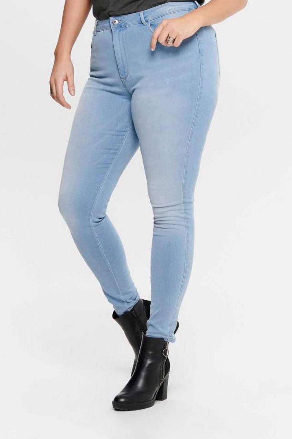 ONLY CARMAKOMA skinny jeans CARAUGUSTA light blue denim, Lichtblauw