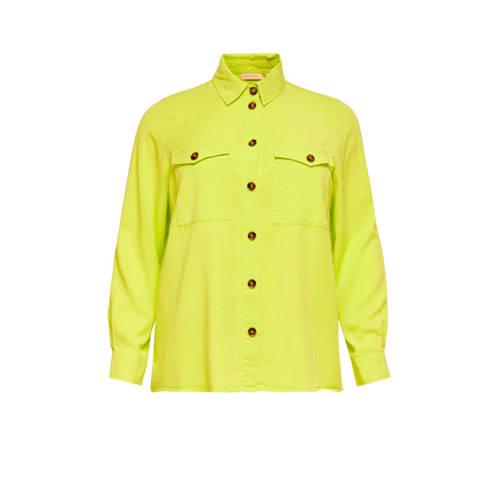 ONLY CARMAKOMA blouse limegroen