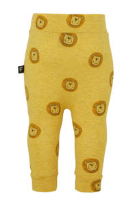 Babystyling baby broek met all over print okergeel, Okergeel