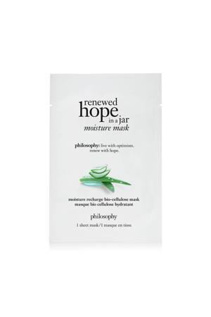 renewed hope in a jar moisture recharge bio- cellulose masker