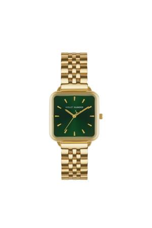 horloge The Dawn VH03007 groen/goudkleurig