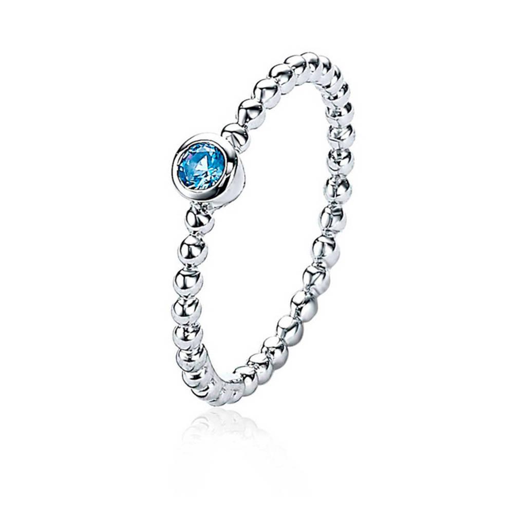Zinzi ring ZIR1900 blauw/zilverkleurig, Zilverkleurig