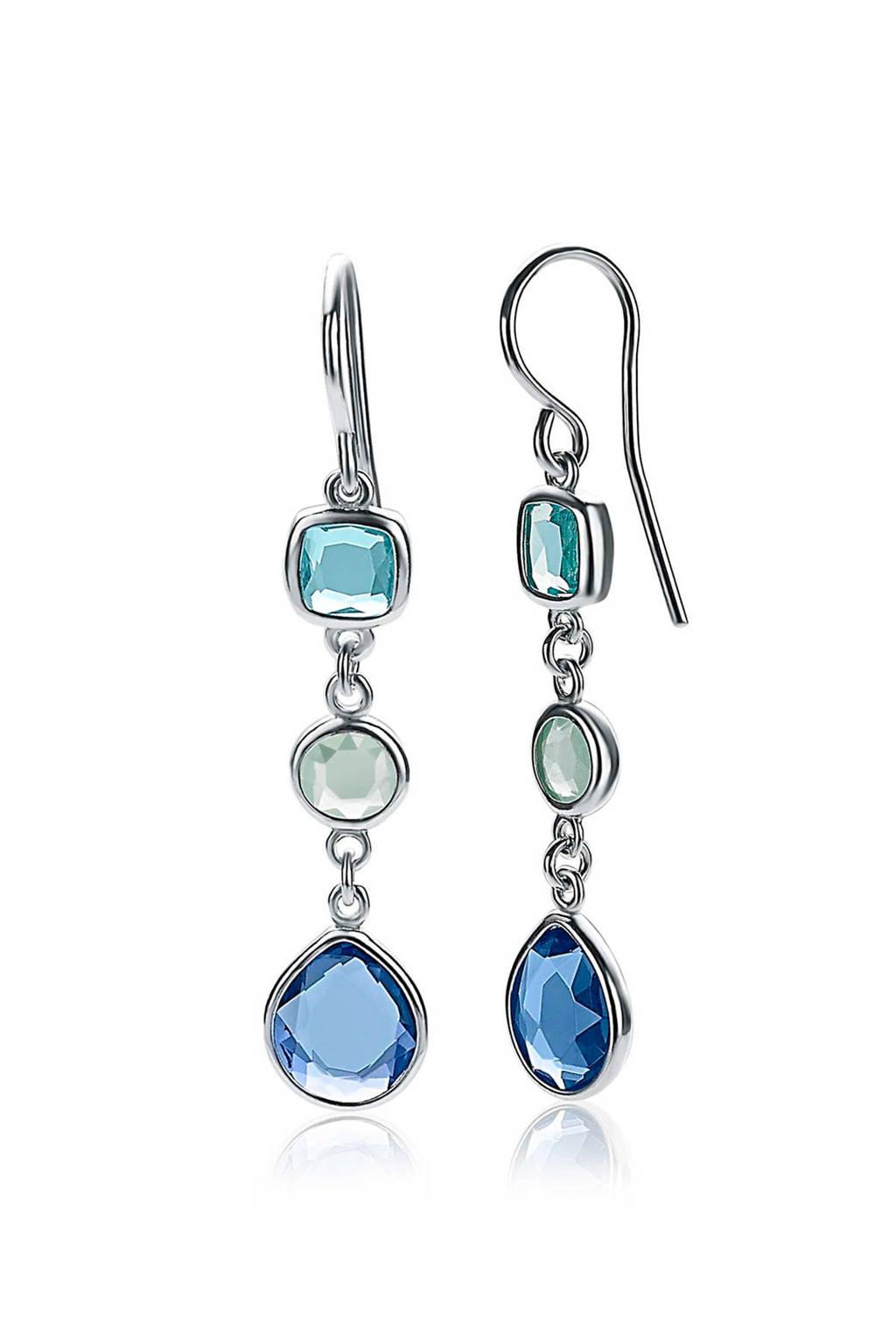 Zinzi oorbellen ZIO1870 blauw/zilverkleurig, Zilverkleurig
