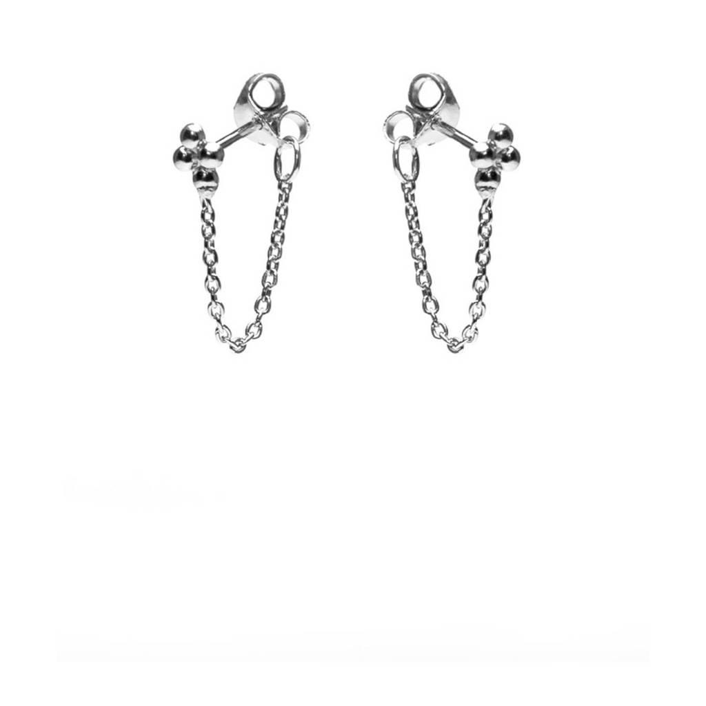 Karma zilveren oorbellen M2120, Zilverkleurig