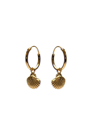 zilveren oorbellen M2263 goudkleurig