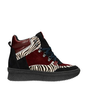 suède wedge sneakers zebraprint