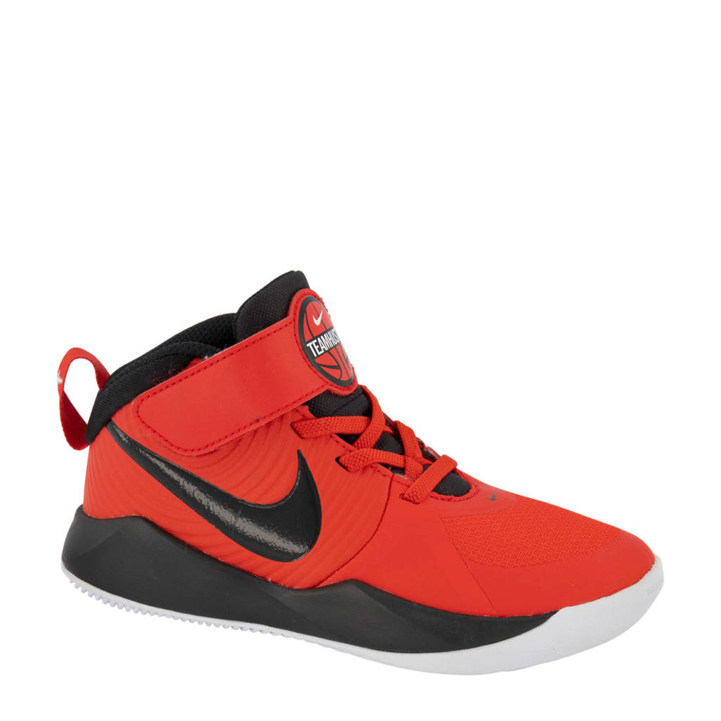Nike  Team Hustle D+ halfhoge sneakers rood, Rood