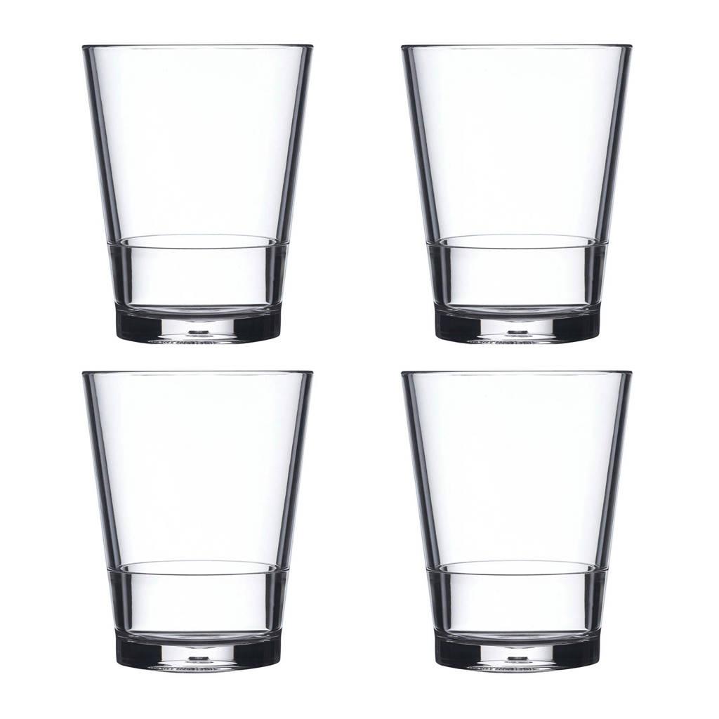 Mepal Flow waterglas (Ø8 cm) (set van 4), Transparant