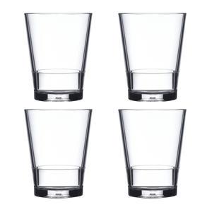 Flow waterglas (Ø8 cm) (set van 4)