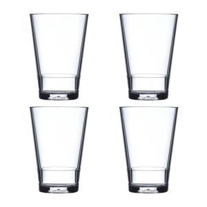 Flow longdrinkglas (Ø8,5 cm) (set van 4)